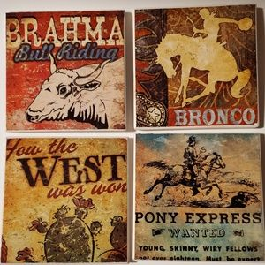 Other - Western theme coasters